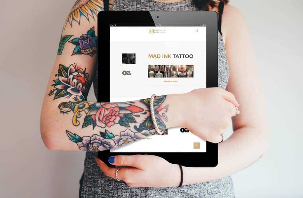Website creation for SB Distribution, a tattoo supply distributor in Sainte-Thérèse